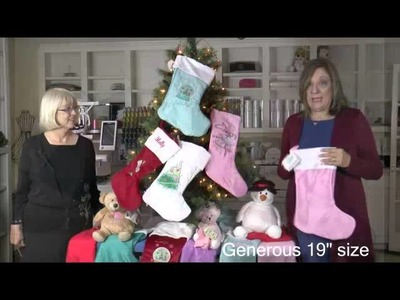 Embroider Buddy® Holiday Greetings and Easy as 1-2-3! Stockings
