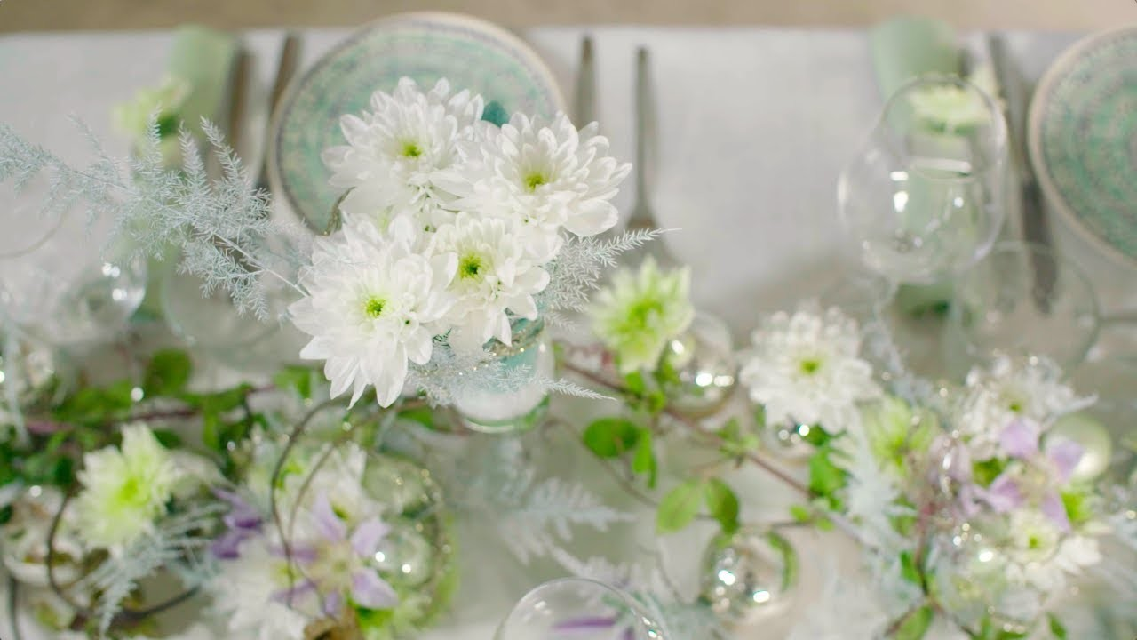 Festive Baltica designs | Flower Factor tutorial | Powered by Deliflor Chrysanten