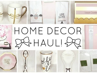 GIRLY HOME DECOR HAUL! ♡ HomeGoods, TJ Maxx, Marshalls, Target, Kate Spade & Oliver Gal