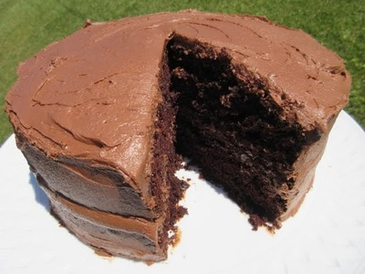 "HERSHEY'S ""PERFECTLY CHOCOLATE"" CAKE - How to make a moist CHOCOLATE CAKE Recipe"