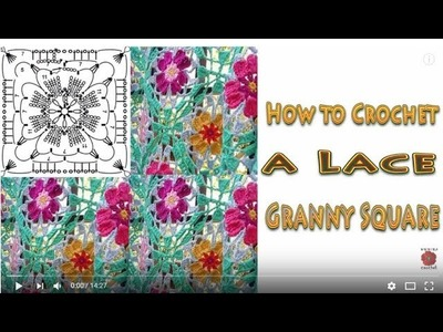 How to Crochet a Lace Granny Square Wika crochet