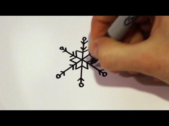 How to Draw a Cartoon Snowflake v2