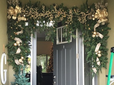How To Hang Outdoor Garland Day 11 of The 12 Days of Christmas