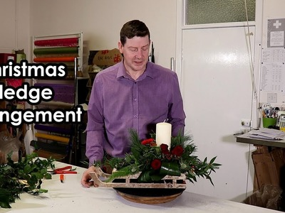 How To Make a Christmas Sledge Arrangement