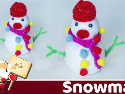 How to make a snowman (Easy)  | Holiday room decor | Christmas Decorations | Beads art