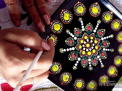 How to make decorative painting with Mandala dot art