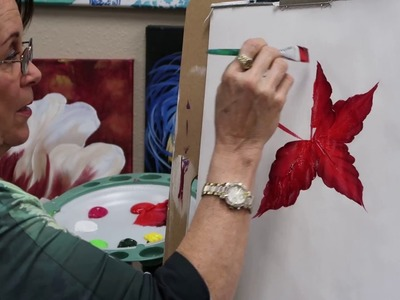 How to paint a Poinsettia (New Lesson!)