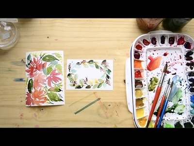 How to paint Watercolor Holiday Cards