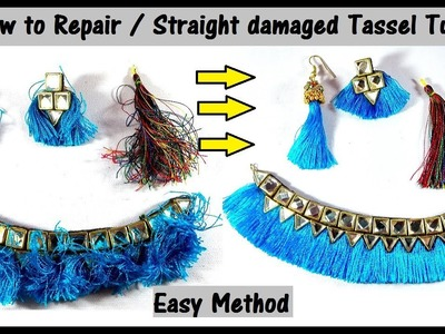 How to Repair. Straight Tassel Earring or Necklace Easy at home DIY Tutorial