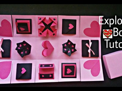 Infinity Explosion Box Tutorial | DIY | Valentine's Day. Anniversary Gift Idea