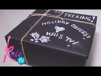 Kris TV: How to make a personalized chalk gift wrapper