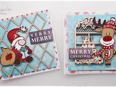 Less is More? Cute and Easy Christmas Cards ♡ Maremi's Small Art ♡
