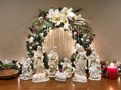 Magnolia Nativity Christmas Display - Christmas Decorating Idea - How To