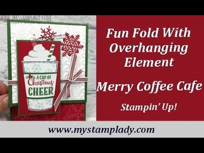 Merry Cafe Fun Fold With Coffee Cup Element Stampin' Up!