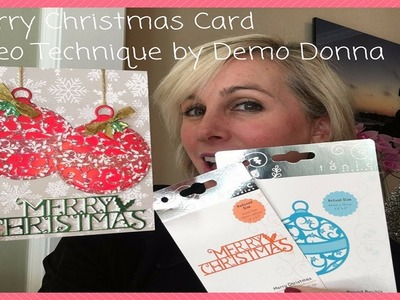 Merry Christmas Card Video technique Kit by Demo Donna