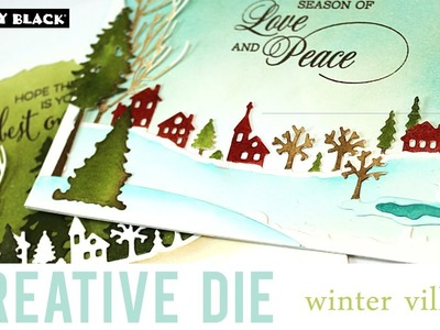 PB&J | Create a Village Scene with Dies | Peaceful Winter Collection