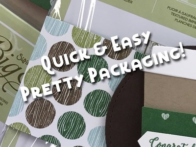 Quick & Simple Pretty Packaging with Coffee Cups Framelits by Stampin' Up!