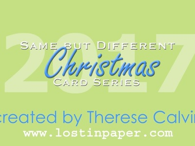 Same But Different Christmas Card Series No 4 - Poinsettia & Pine!