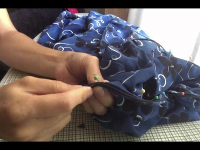 Sewing in a lining for you to fall asleep