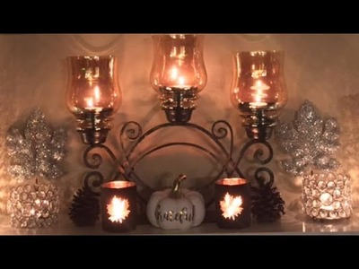 Simple and Elegant Fall Mantle Styling | Fall 2017