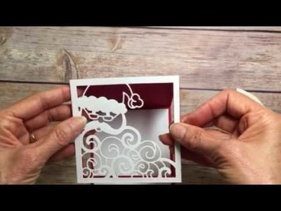 Stampin' Up! Detailed Santa Tea Light Easel Card