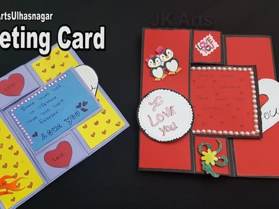 Swing Card Tutorial | Valentine's Day Greeting Card | How To Make | JK Arts 1307