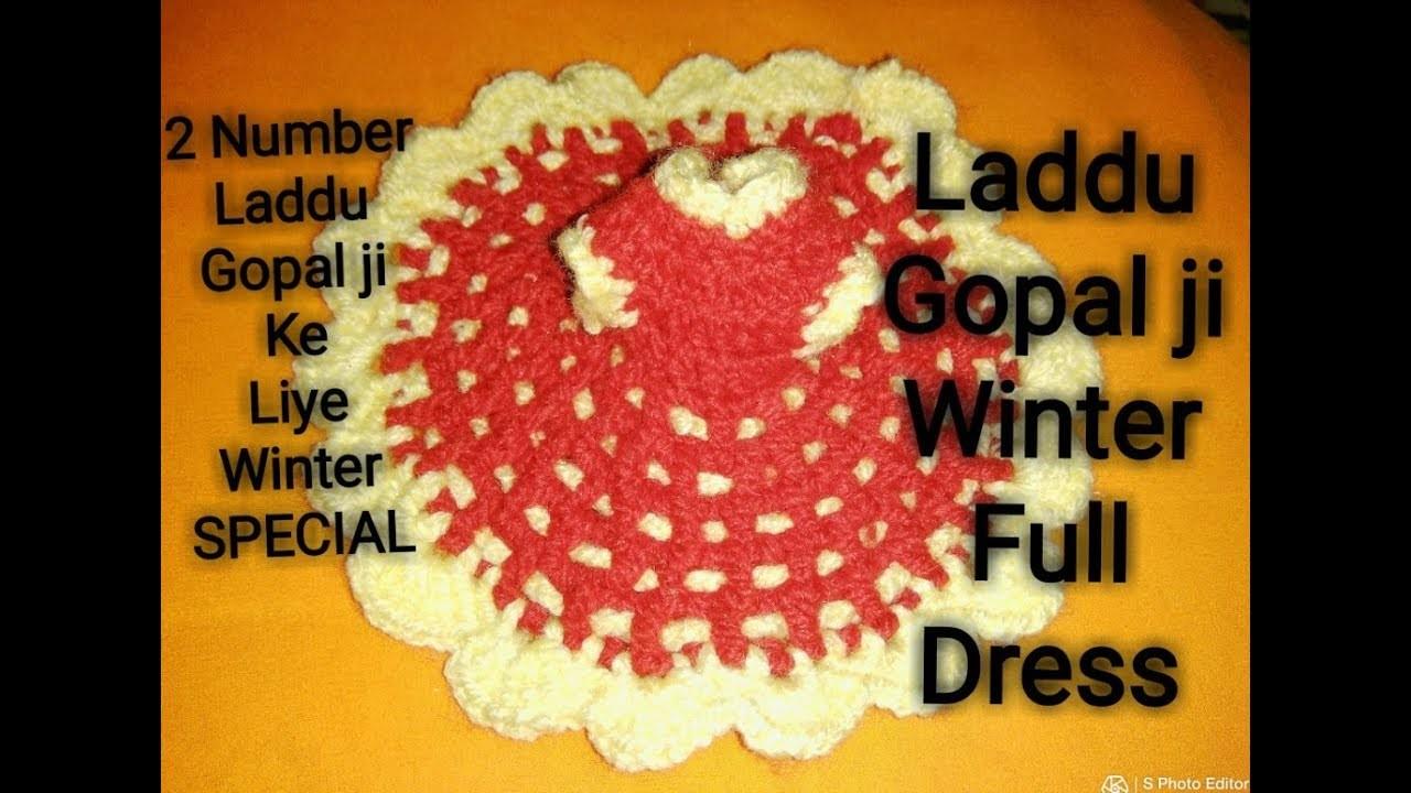 Winter full dress for Laddu gopal Ji.two number Laddu gopal Ji dress very easy method