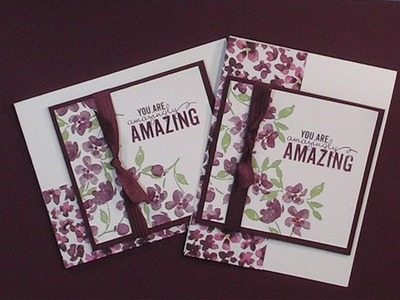 2015 Stampin'Up! Occasions Painted Petals Card