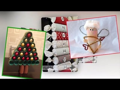 40 Christmas Decoration & Gift Ideas using Toilet Paper Rolls