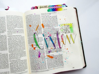 Bible Journaling Process Video - Listen - Mark chapter 4 by Tai Bender for Illustrated Faith