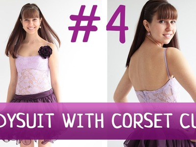 Bodysuit with corset cups #4. How to make a dress?