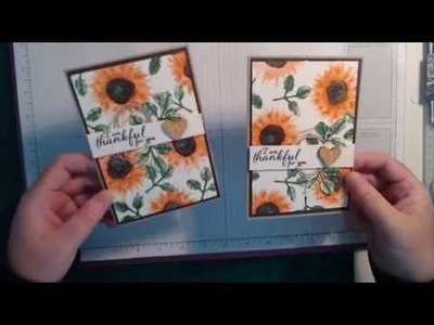 Card tutorial using Painted Harvest from Stampin Up
