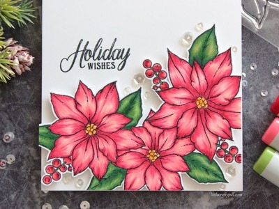 Coloring Poinsettias with Copic Markers
