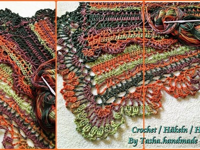 Crocheted multifunctional scarf.shawl.wrap Part 1 - Step by step for beginners!