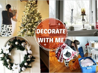 DECORATE FOR CHRISTMAS WITH ME! | Christmas Decor 2017 | Kasey Chagnon