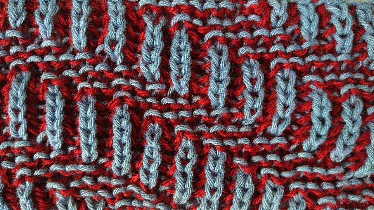 Diagonal, two-color brioche stitch knitting pattern + free chart
