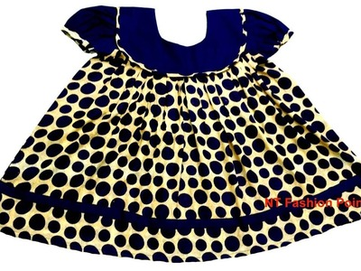 DIY corduroy float baby dress   Step by step baby dress making easy guideline