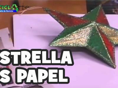 DIY ESTRELLA EN PAPEL. STAR ON PAPER