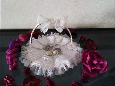 DIY Home Decor - How to Make a Beautiful Basket for Wedding Decoration + Tutorial !