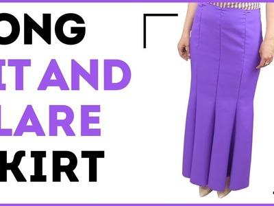 DIY: How to make a long fit-and-flare skirt. Making an 8-gore long skirt. Sewing tutorial.