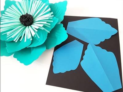 "DIY ""October"" Flower Template Making Tutorial"