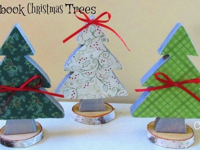 DIY Scrapbook Paper Christmas Trees ~ Christmas Crafts ~ Craft Klatch
