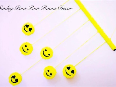 DIY Smiley Pom Pom Room Decor | Easy Wall Hanging Ideas | Karthika Loves DIY