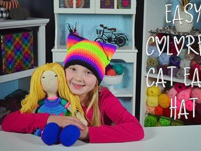 Easy Crochet Cat Ear Hat