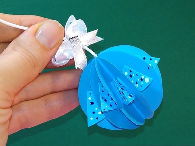 Easy room decoration from paper. 2 minutes Christmas ornament.
