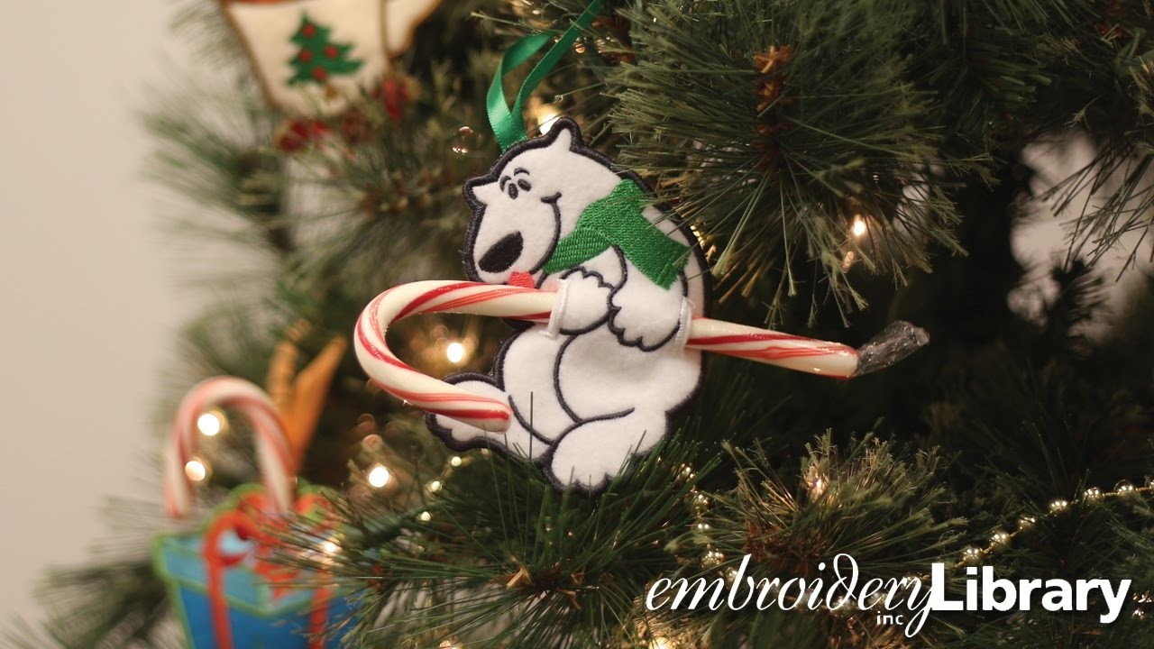 Embroidered Candy Cane Holders, In the Hoop