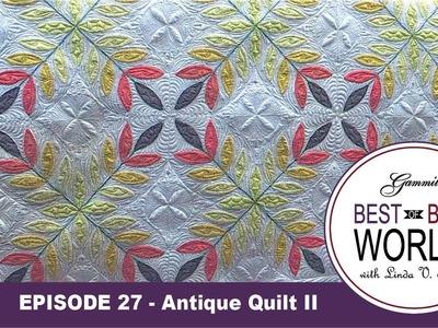 Episode 27 -Best of Both Worlds - Leafy Quilt Part 2