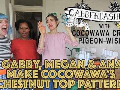 Gabby and Megan with Cocowawa make the new pattern .  The Chestnut Sweater