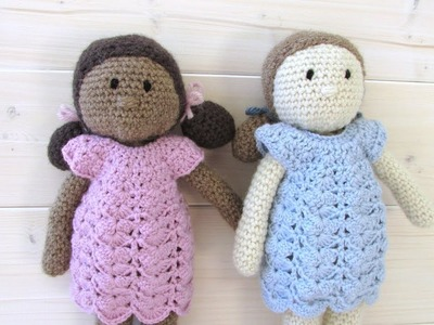 How to crochet an EASY doll. toy - amigurumi doll pattern