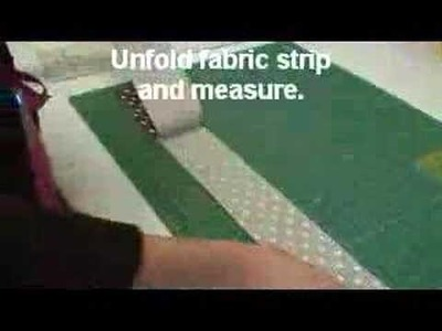 How to Cut Fabric Strips